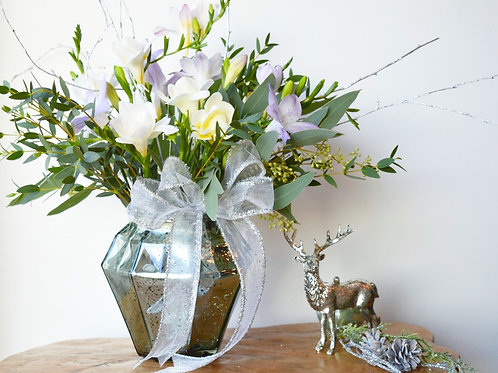 Christmas Scented Freesia Vase