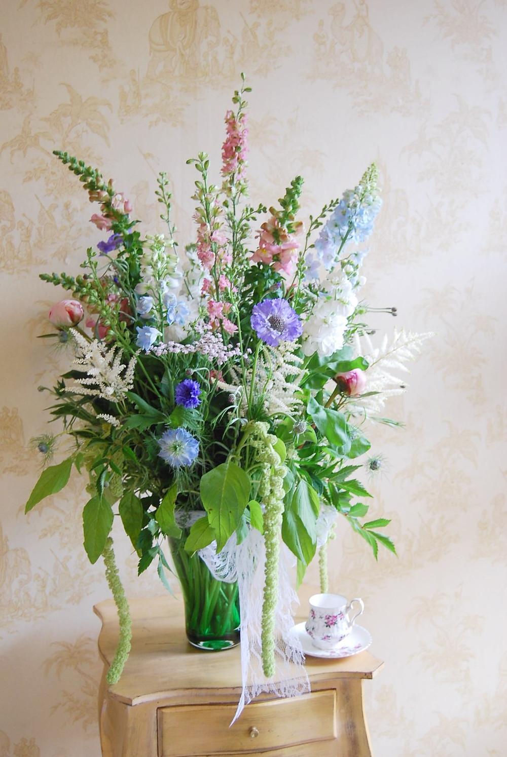 Vase of Summer British Flower