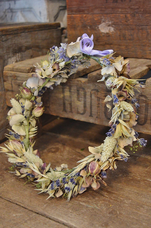 Lilac and Lavender Flower Crown