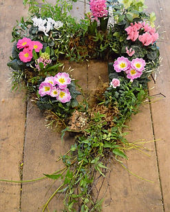 Planted heart eco funeral tribute