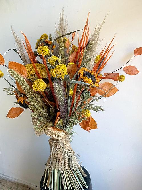 Sunflower Dried Flower Bouquet