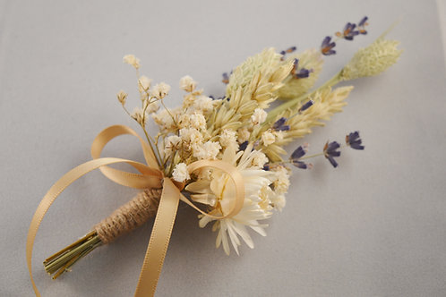 Vintage Dried Flower Corsage