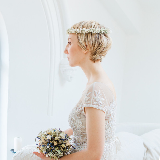 Vintage Dried Bridal Bouquet