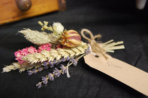Mixed Dried Flower Buttonhole