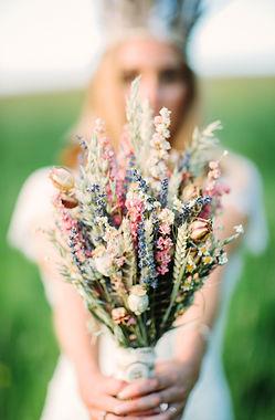 Boho, Rustic wedding ideas, dried flower wedding bouquet