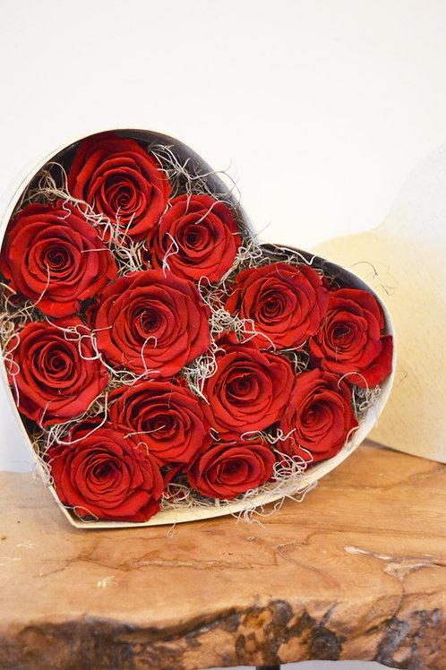 Everlasting Preserved Red Rose Heart