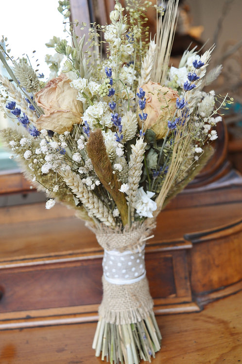 Natural, Peach and Lavender Bouquet