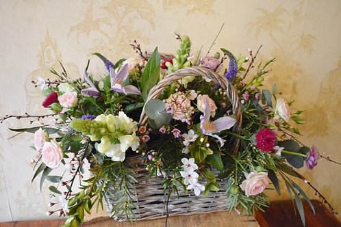 Rustic Flower Basket