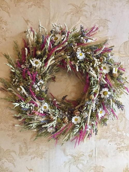 Dried Flower Cottage Wreath