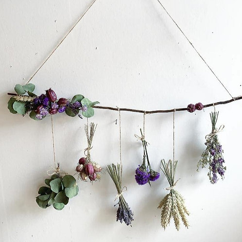 Dried & Wild Letterbox Wall Hanging Lilac