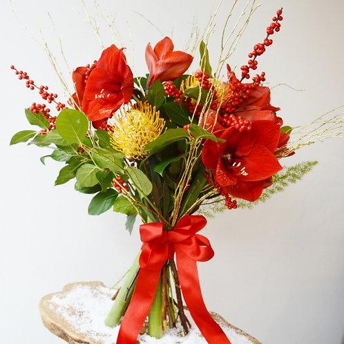 Christmas Amarylis Bouquet