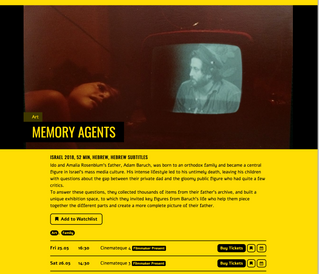 Memory Agents: A Documentary, upcoming May 2018
