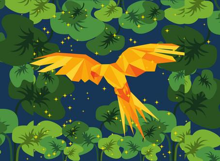 सुनेहरे पंख वाला तोता