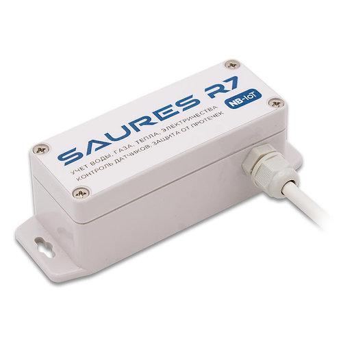 Контроллер SAURES R7m1, NB-IoT, 4 канала+32RS-485, SIM-чип МТС, вывод сбоку,IP66