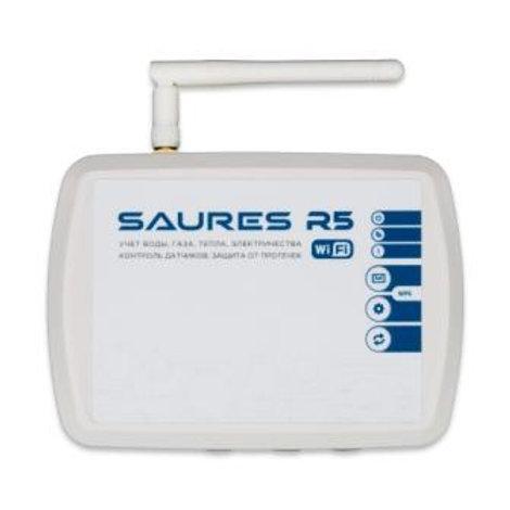 Контроллер SAURES R5, Wi-Fi, 8 каналов+8RS-485, внешняя антенна, внешнее питание