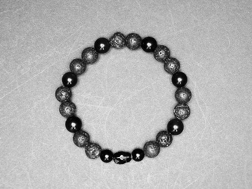 Scarab black man-beads
