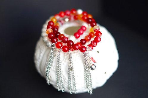 Joy - silver accents 3 bracelets
