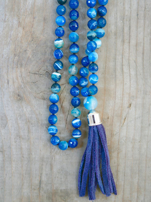 Natural Sea-blue Mala