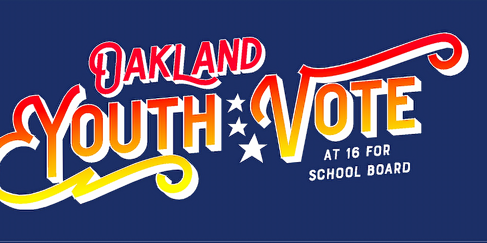 Oakland City Council Session on Youth Vote