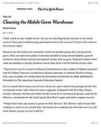 Cleaning the Mobile Germ Warehouse - The