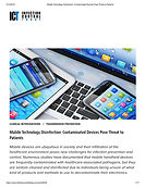 Mobile Device Disinfection - Contaminate