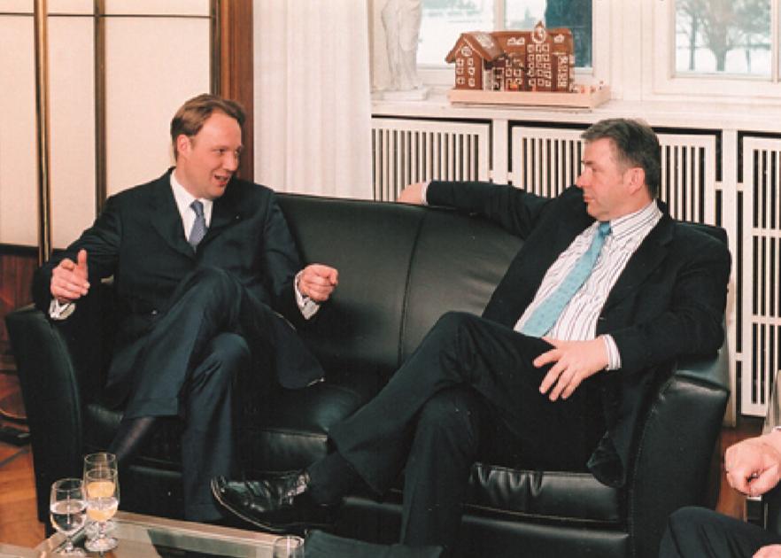Alexander Gruhn und Klaus Wowereit