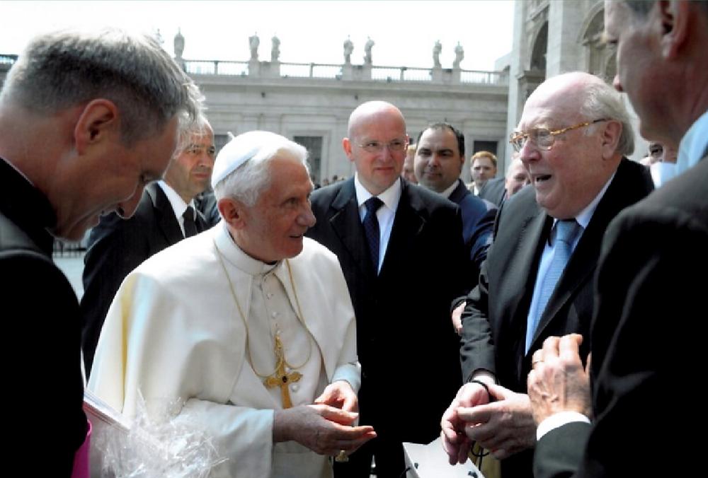 Wolfgang Gruhn beim Heiligen Vater Papst Benedikt XVI