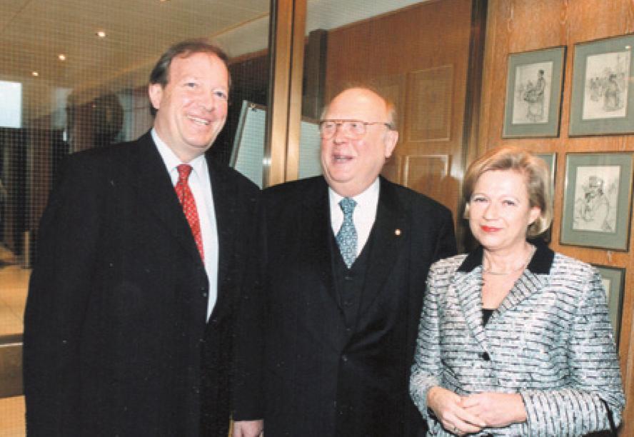 ... mit Bundeswirtschaftsminister Günter Rexrodt