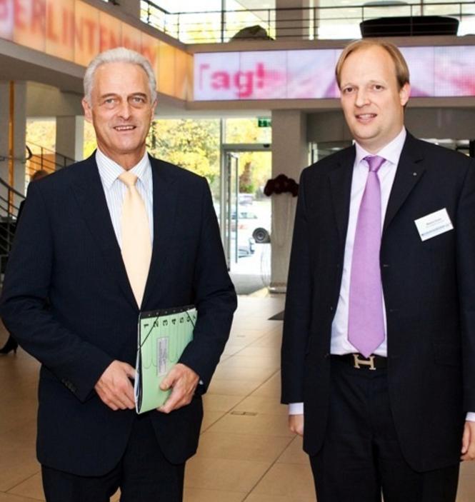 Markus Gruhn mit dem Bundesminister für Verkehr, Bau und Stadtplanung, Dr. Peter Ramsauer, MdB