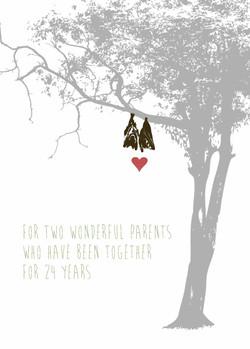 Bats anniversary card