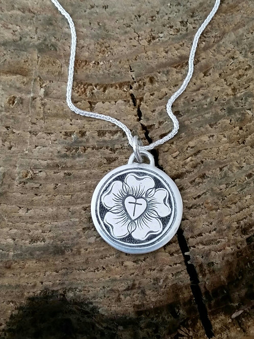 Luther Rose Pendant with chain