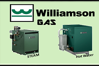 Williamson gas fired steam and hot water boilers