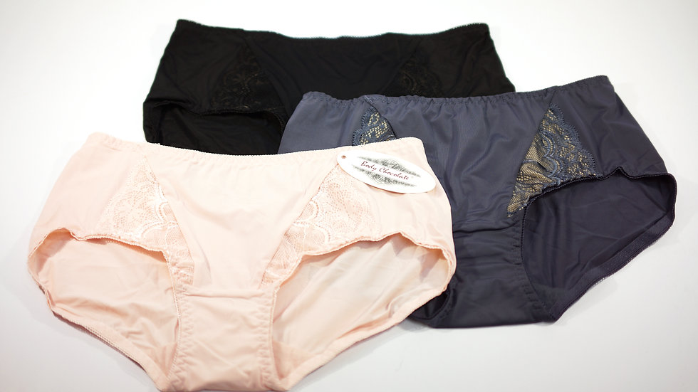 Leslie Brief (3-Pack) #BC313150 Pink+Black+Dark Grey (Body Chocolate®)