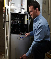Gas fired hot air furnace service