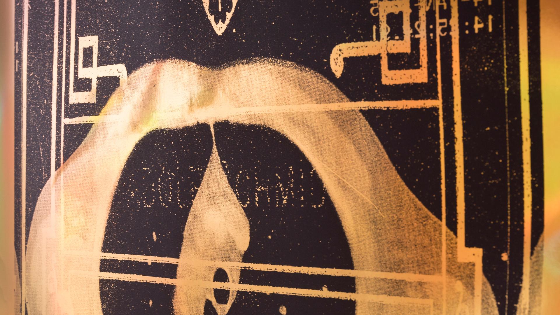 Epochen & Katastrophen GOLD each 70 x 190 cm screenprint, holographic paper 2017