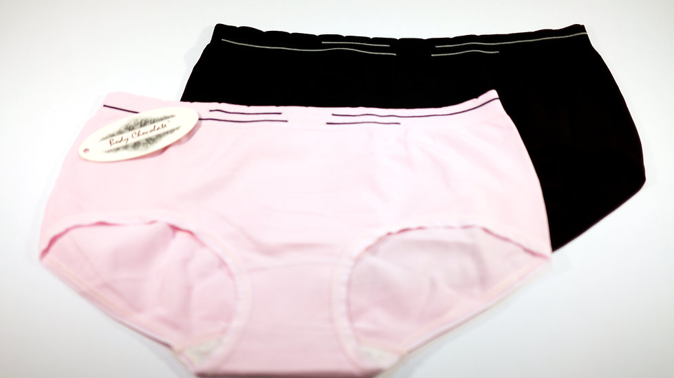 Single Bottom Brief (2-Pack) #BC330145 Black+Pink (Body Chocolate®)