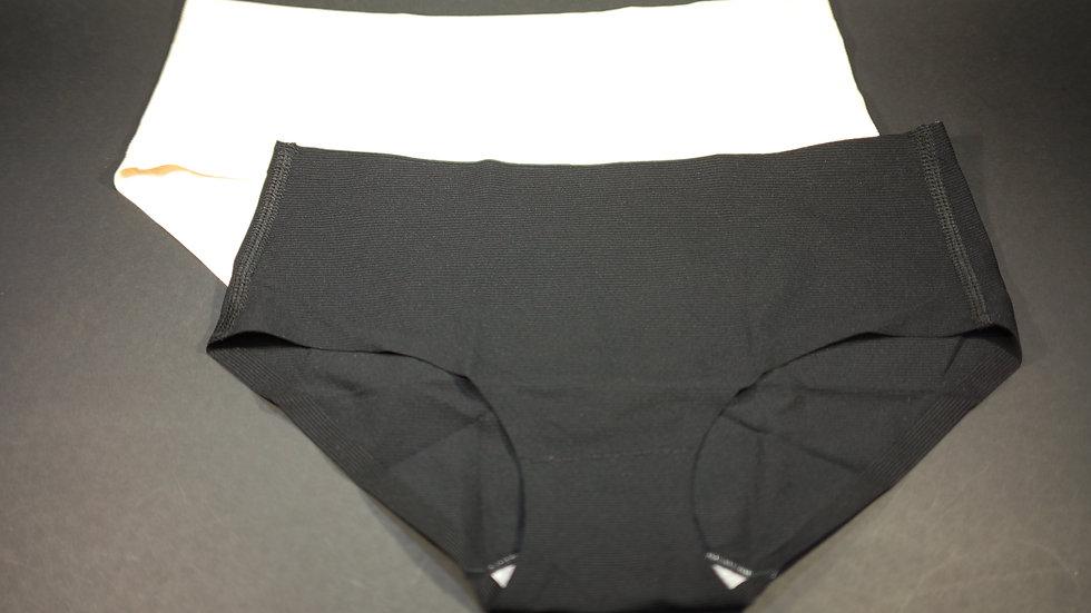 Plain Brief (2-Pack) #BC330039 Black+Flesh (Body Chocolate®)