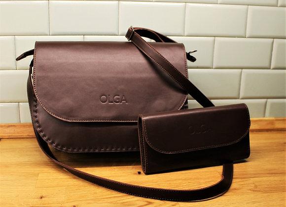 Комплект из сумки через плечо и кошелька