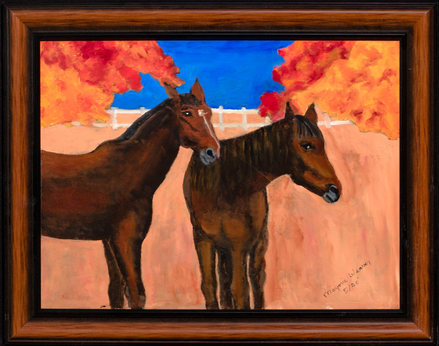 """Marjorie Weaver, """"Two Horses During the Fall"""""""