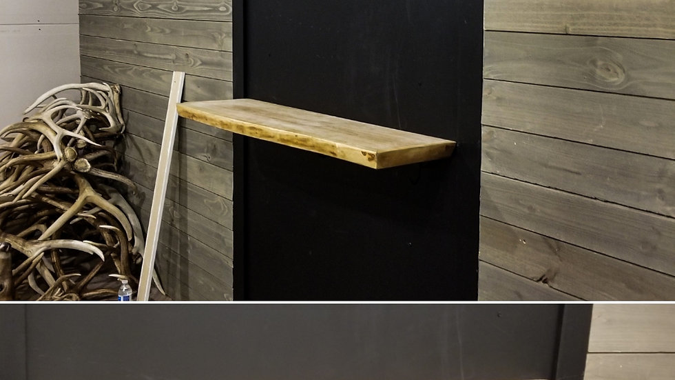*Made to order* Floating live edge bar