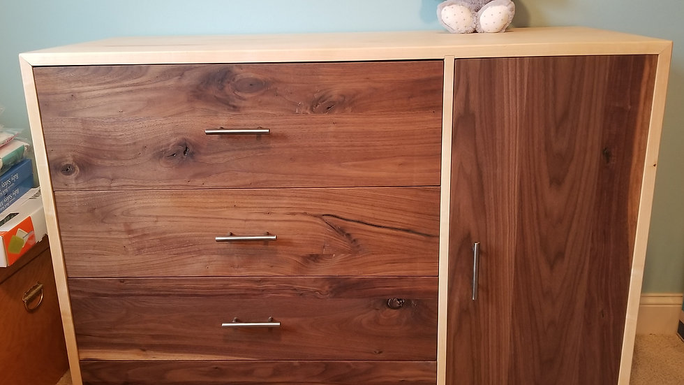 *Made to order* 4-drawer dresser with door