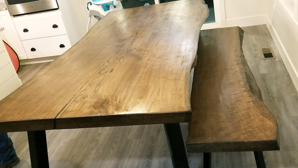 *Made to order* Live edge table and bench