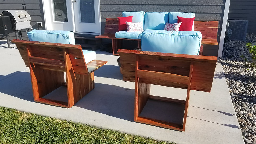 Made to order patio furniture set