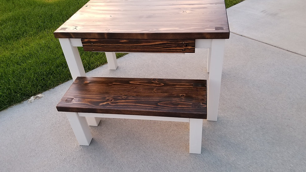Made to order children's table and bench