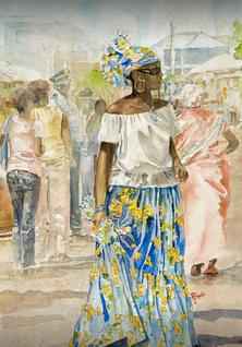 Lady in Blue by Raymond A. Broady