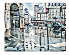 Plaza in The Rain by d. Wadsworth Kelley