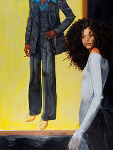 """""""Aglaia"""" with a Nod to Barkley Hendricks by Robert Brown"""