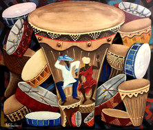 Mardi-Gras Dancers by Reynaldo G. Ferdinand