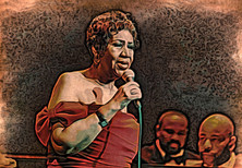Aretha at the Chicago Theater, 2014 by d.Wadsworth Kelley
