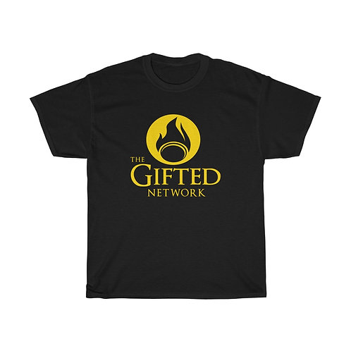 *Limited Edition Gold on Black* GIFTED LOGO Unisex Heavy Cotton Tee